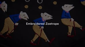 Brodats en moviment: Embroidered Zoetrope
