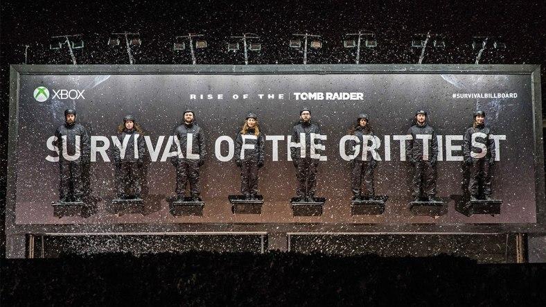 Un cartell-reality interactiu: Survival Billboard