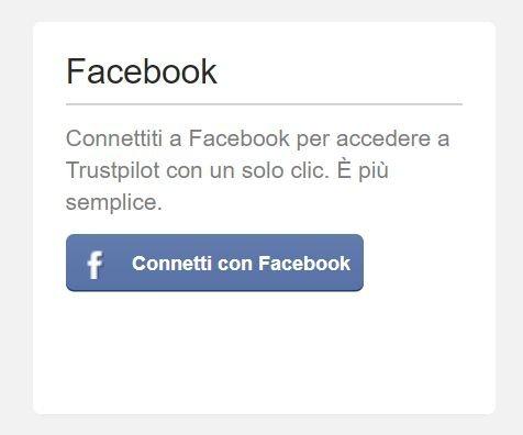 trustpilot accedere con facebook