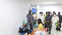 Hut TNI AL ke 76 SeskoAL Laksanakan Serbuan Vaksin Covid 19 di Universitas Negeri Jakarta