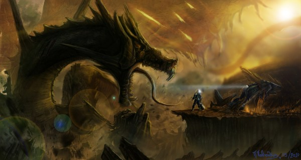 Sci-Fi Dragon Monster