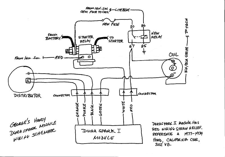 1979 ford duraspark wiring diagram best subwoofer diagrams installing module glenn c the de tomaso forums like