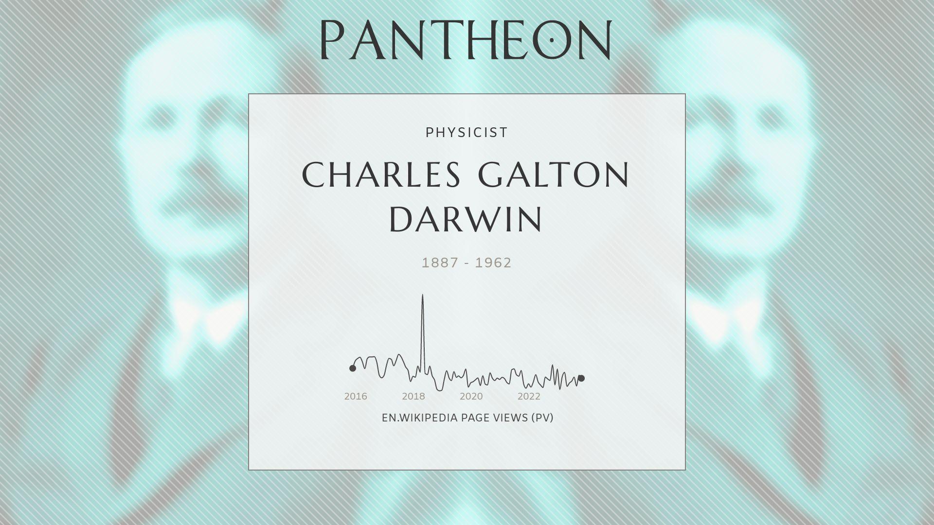 Charles Galton Darwin Biography