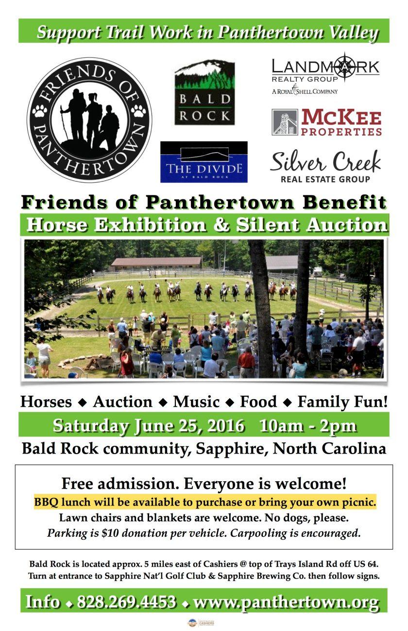 Benefit Horse Exhibition Saturday June 25 at Bald Rock