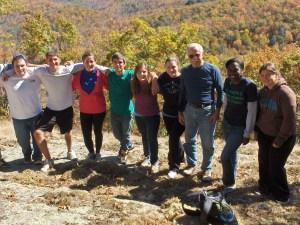 Panthertown Valley volunteers from Elon University (October 2010)