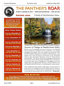The Panther's Roar - Autumn 2020 Newsletter