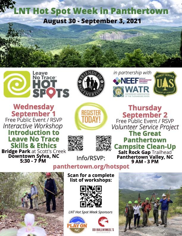 LNT Hot Spot Week in Panthertown