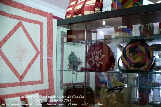 Mostra de Patchwork - arte en Cendón - Cedeira, xullo de 2011 - fotografía por Fermín Goiriz Díaz