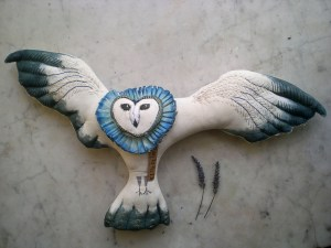 owl art doll