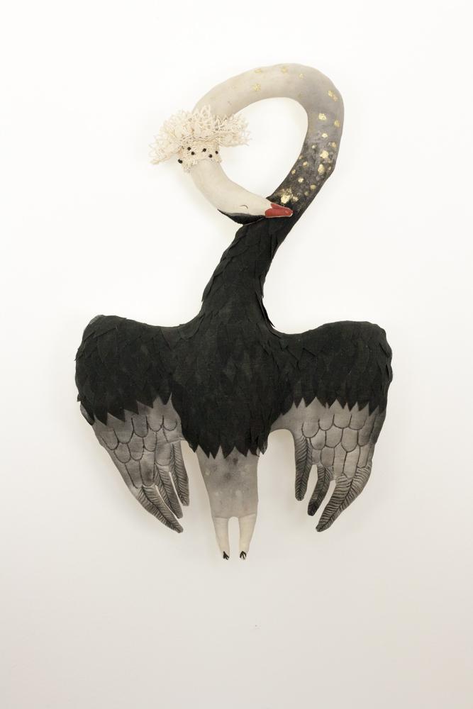 textile swan