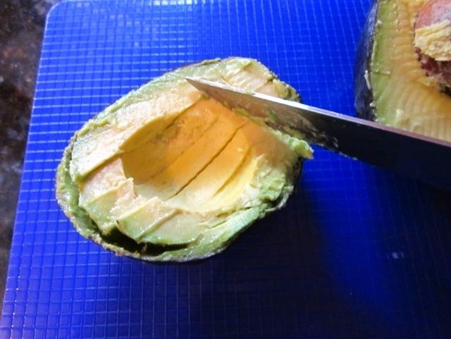 sliced avocado, mango salsa, healthy fats, monounsaturated fats