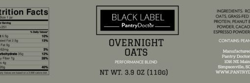 Overnight Oats | Wrap Around Labels