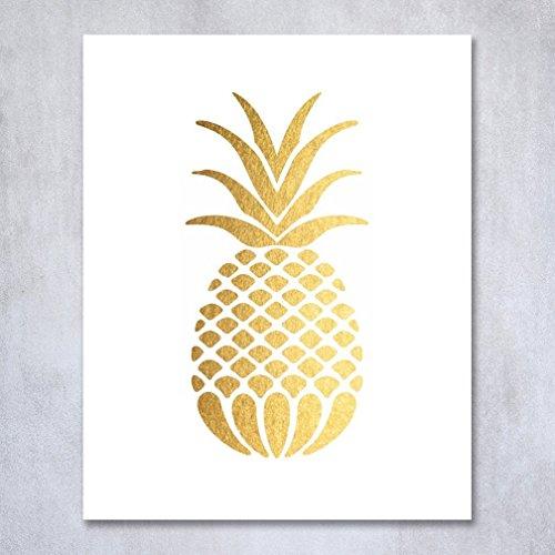 pineapple wall print - best foodie gifts