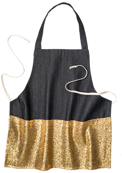 gold apron - best foodie gifts