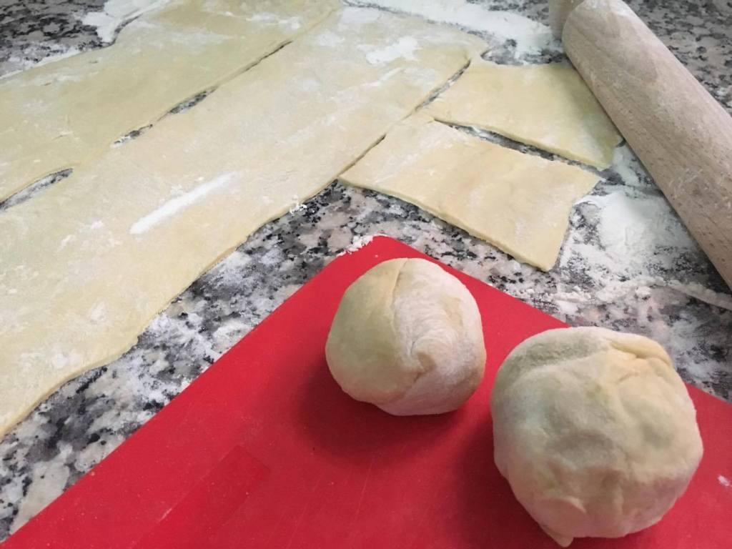 Plum Dumpling in the making