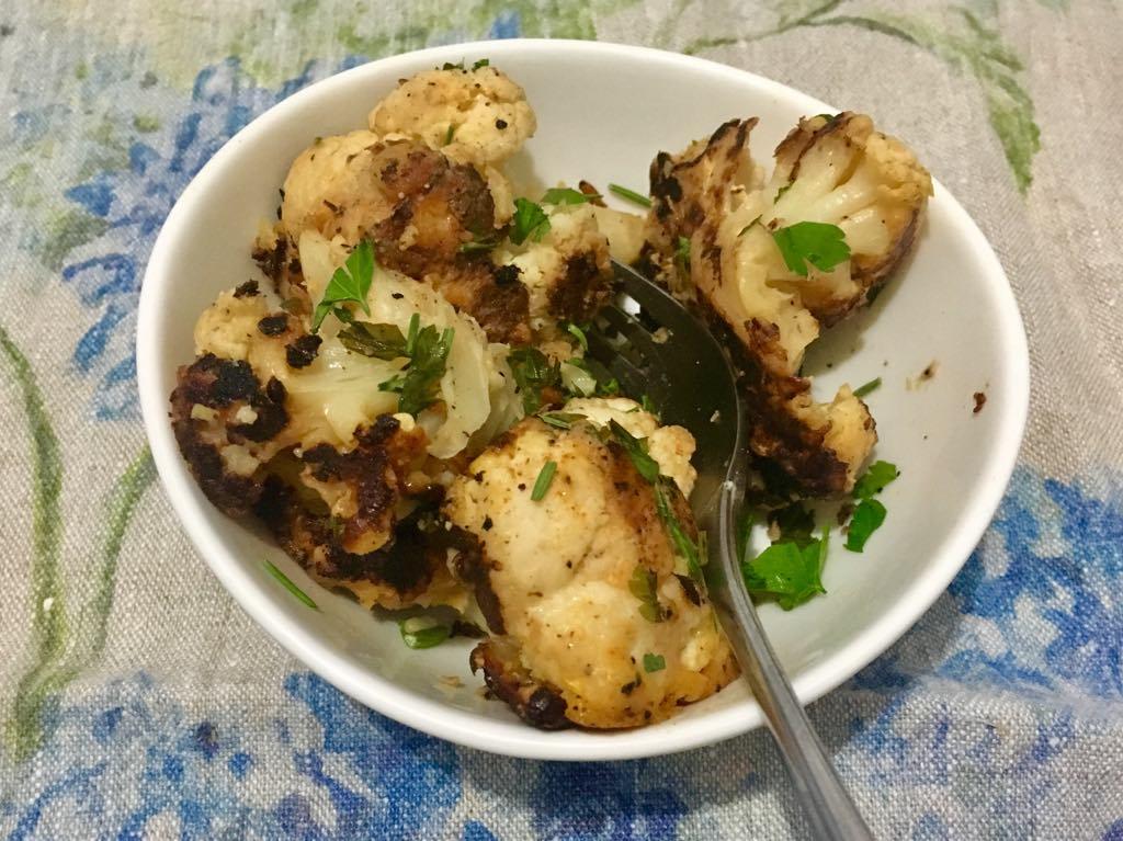 Crispy Cheese Cauliflower