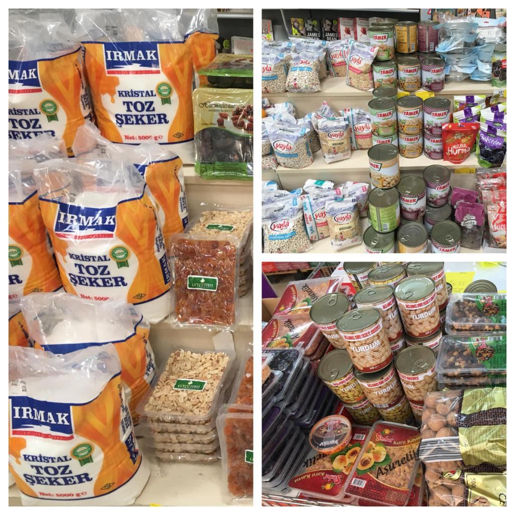 Ingredients for Aşure