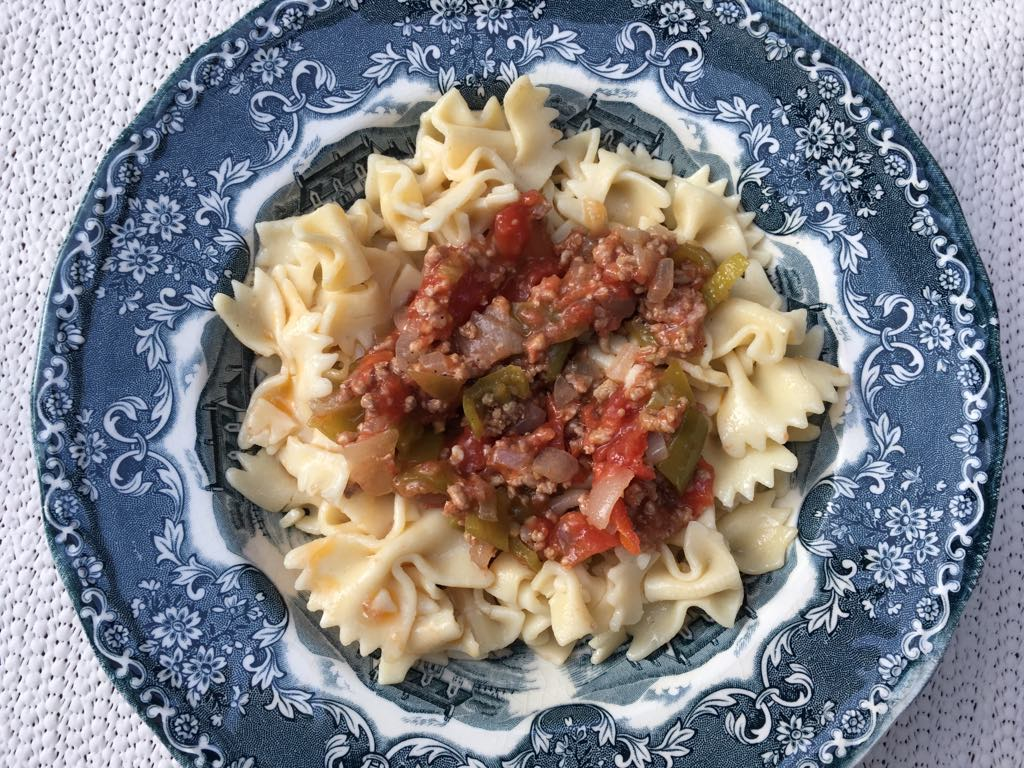 Pasta with Mince - Seasonal Cook in Turkey
