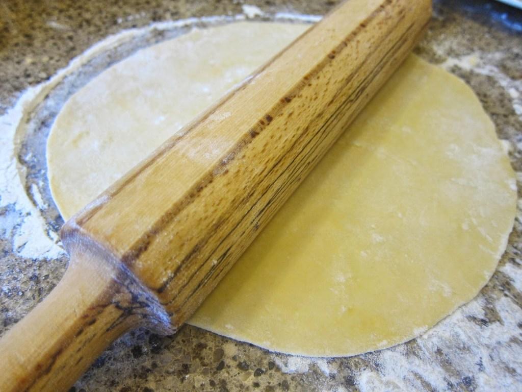 Rolling Turkish flat bread