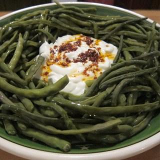 green beans with yogurt