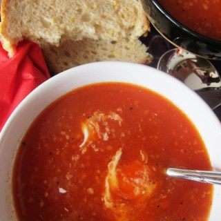 Tomato Soup with Roasted Red Pepper