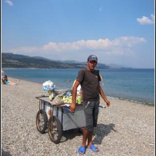 Turkish corn seller