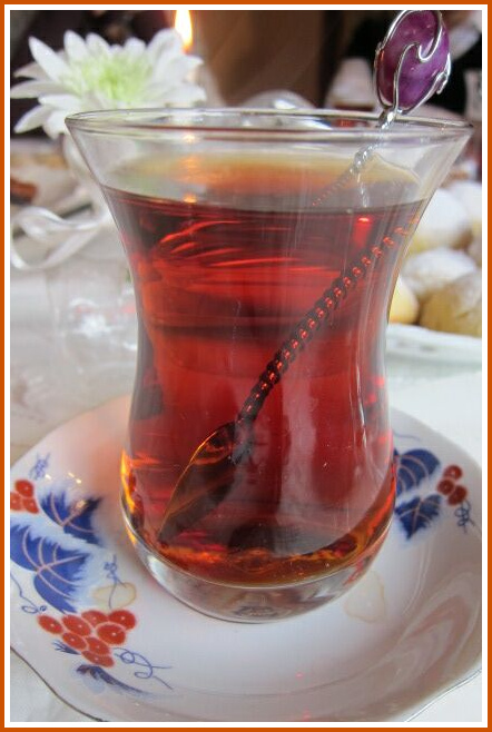 glass of tea at Ayse's