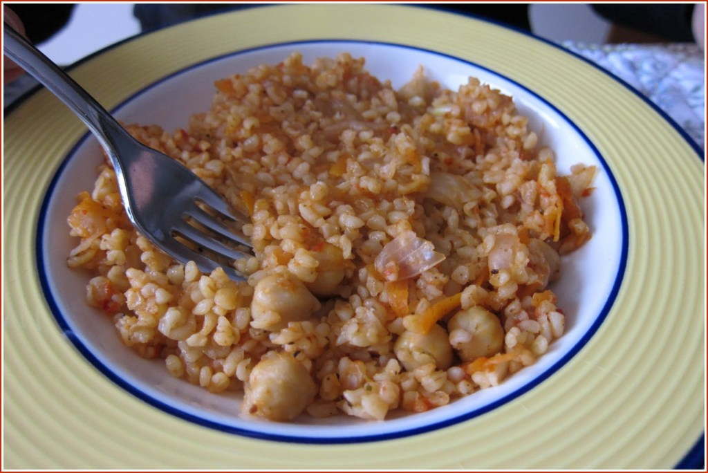 plate of bulgur - starter pic