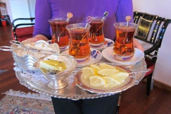 Tray of tea