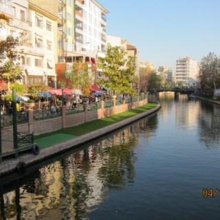 canal in Eskişehir turkey