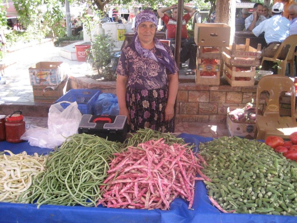 Woman at Ayvacık market