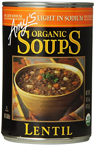 amy's kitchen soup white bench light in sodium organic lentil soup, 14.5-ounce cans ...