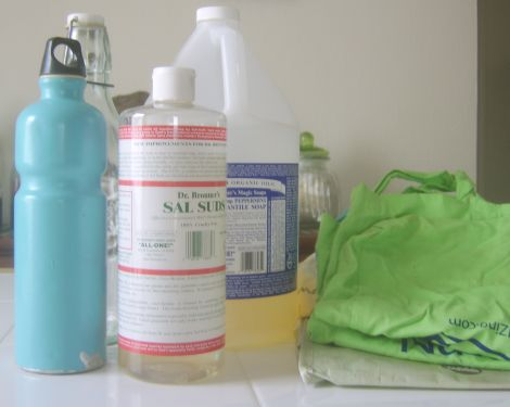 Reusable bottles, bags, and natural soaps