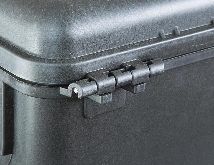 Steel pin reinforced hinges