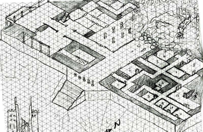 graph paper dungeons