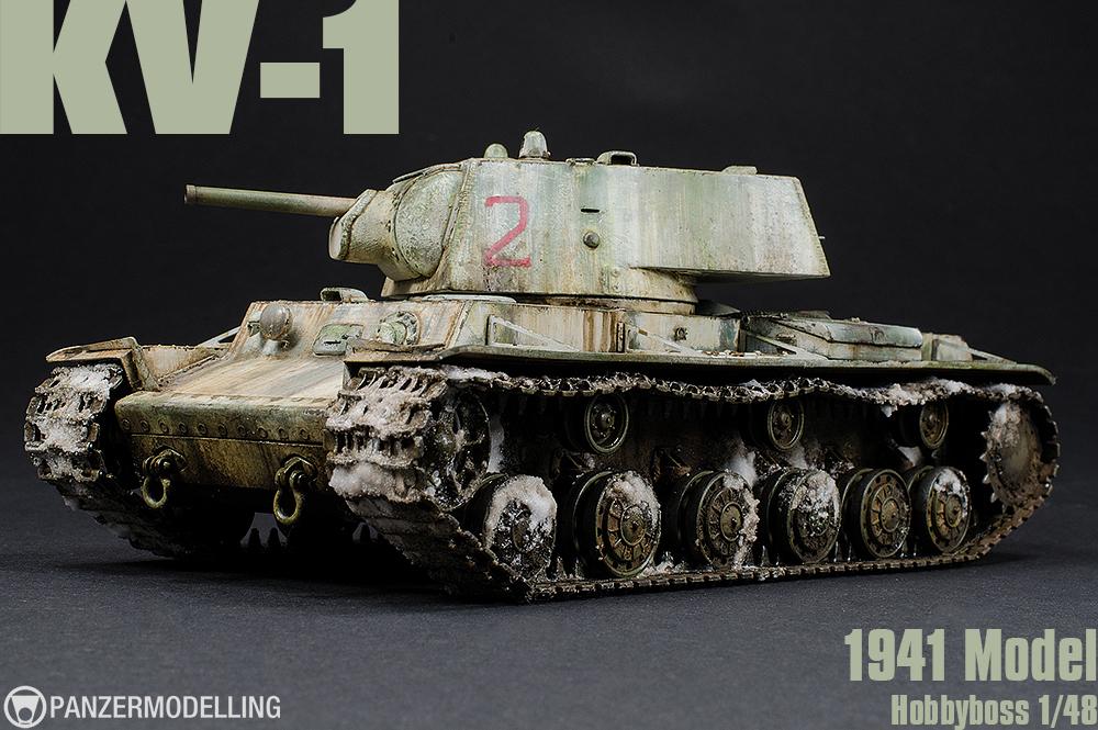 KV-1, Model 1941, Hobbyboss 1/48
