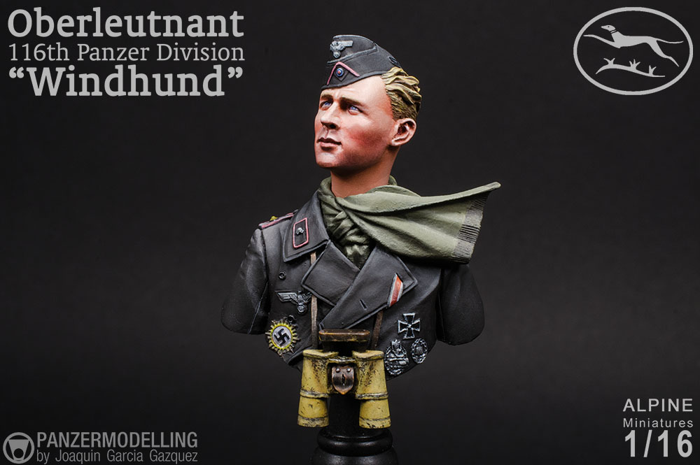 "Oberleutnant 116th Panzer Division ""Windhound"", Alpine Miniatures 1/16"
