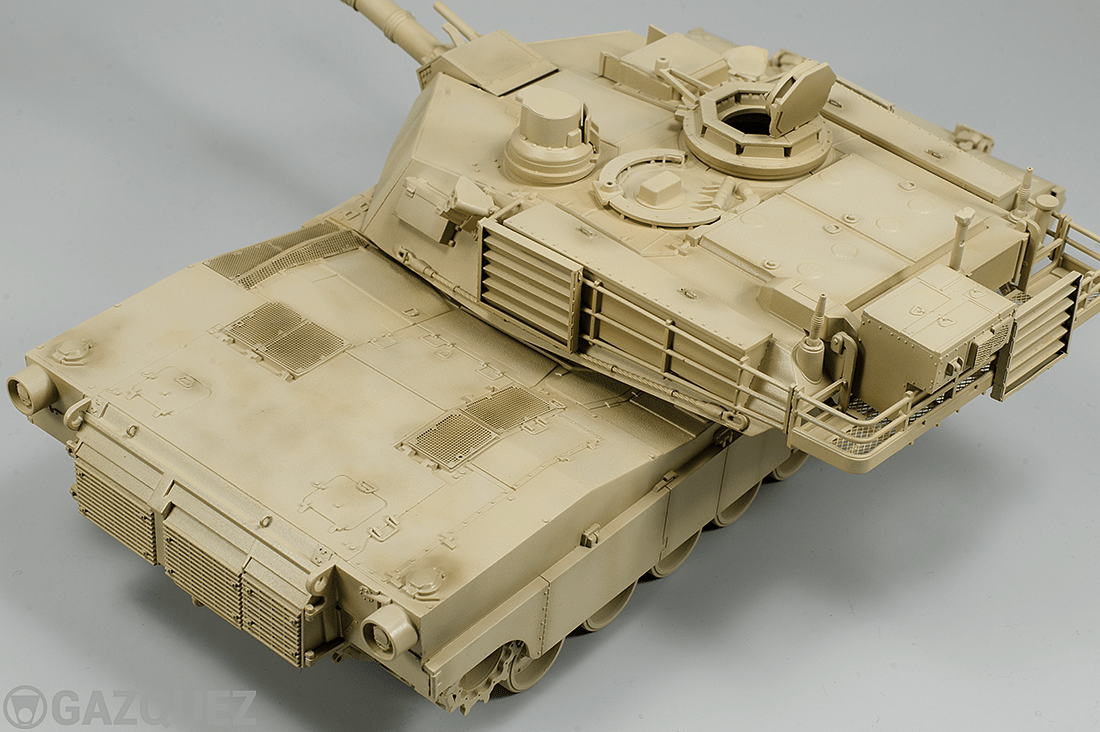 M1A2 Abrams, assembly and airbrush base work