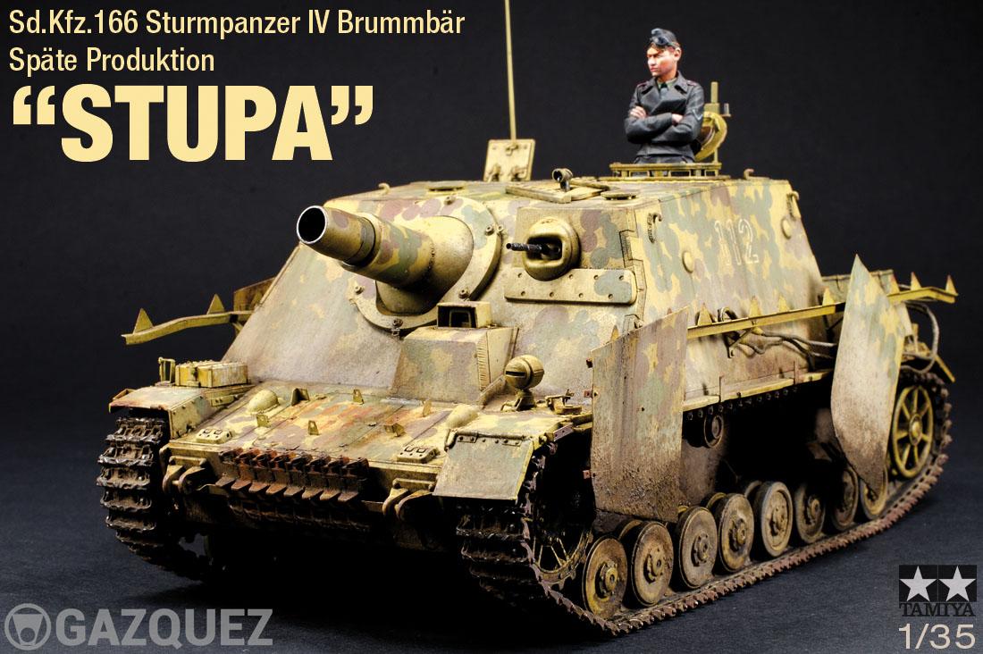 "Sd.Kfz.166 Sturmpanzer IV ""Brummbär"", Späte Produktion, ""STUPA"""