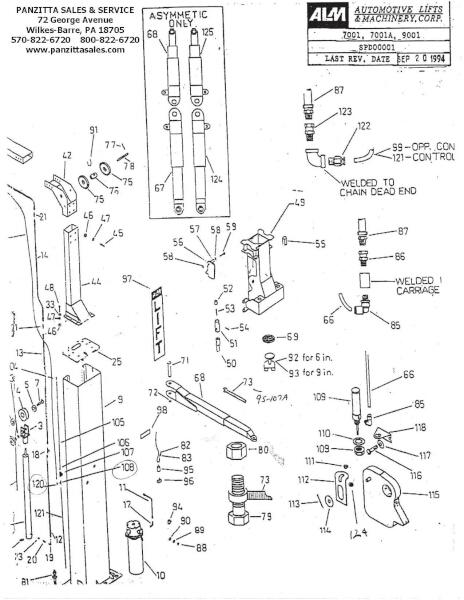 ALM 7001, 7001A, 9001 Parts