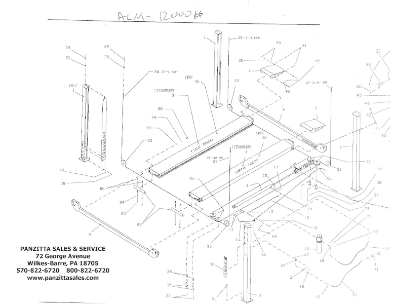 ALM 12000 Four Post (CABLE) Parts
