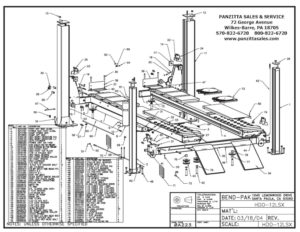 BendPak & Prolift Lift Parts and Breakdowns– Page 2 of 4