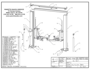 BendPak & Prolift Lift Parts and Breakdowns– Page 3 of 4