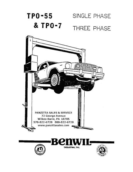 Benwil TPO-55, TPO-7 Parts
