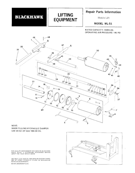 Black Hawk ML-51 Parts