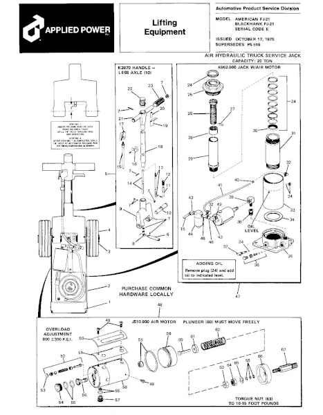 Black Hawk PJ-21 Parts