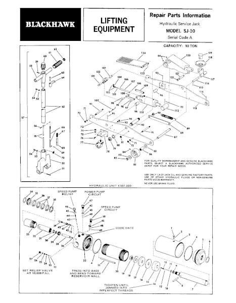 Black Hawk SJ-10 Parts