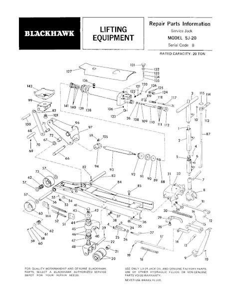Black Hawk SJ-20 Parts