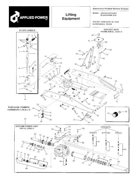 Black Hawk SJ-4 Parts