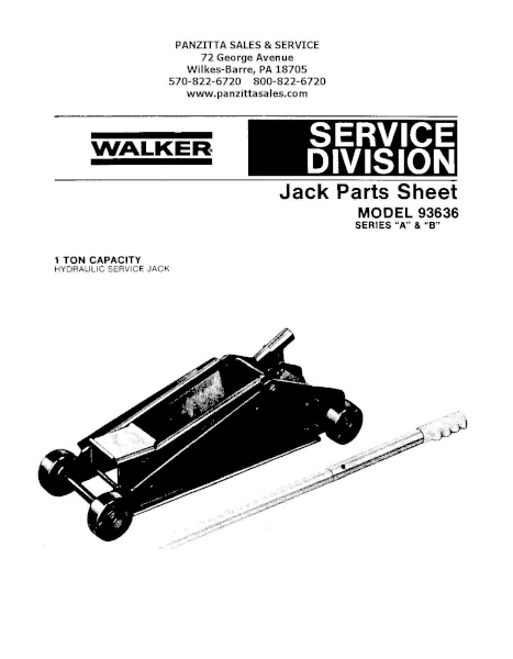 Lincoln Walker 93636 Series A and B Parts